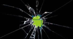 android tela quebrada