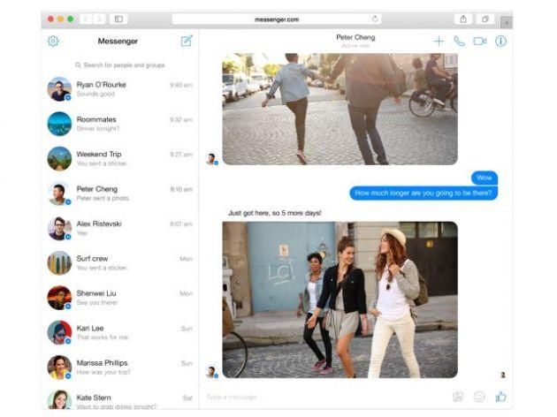 versão web do Messenger