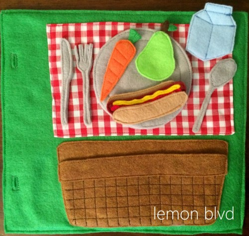 Picnic Quiet Book Page - lemon blvd