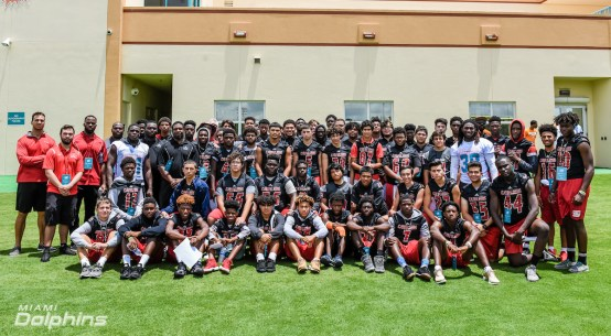The Coral Gables Cavaliers attended the Miami Dolphins OTA's.