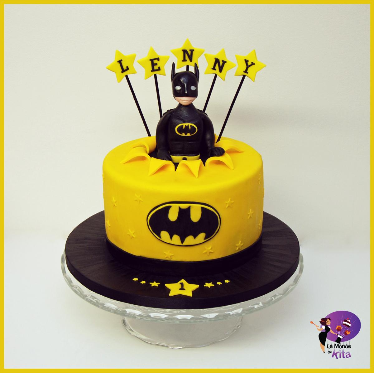 Premier Gâteau Anniversaire Enfant Batman Superheros