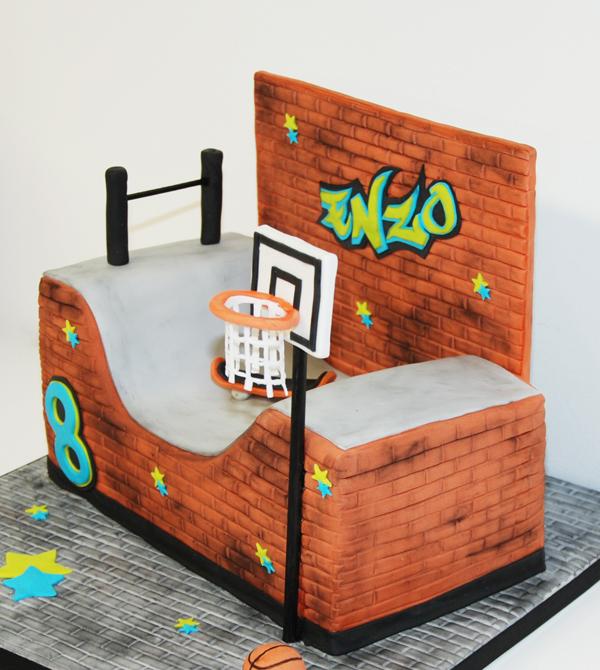 Gâteau d'anniversaire Skate Park Zoom