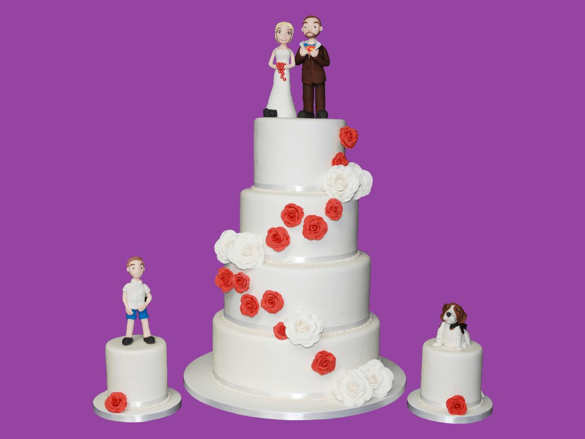 gateau de mariage pièce montée