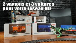 Read more about the article 2 wagons et 3 voitures HO pour votre réseau