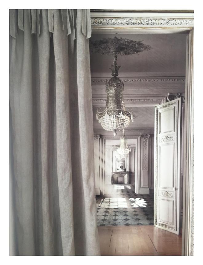 rideau voile de lin taupe anna 140 x 280 cm