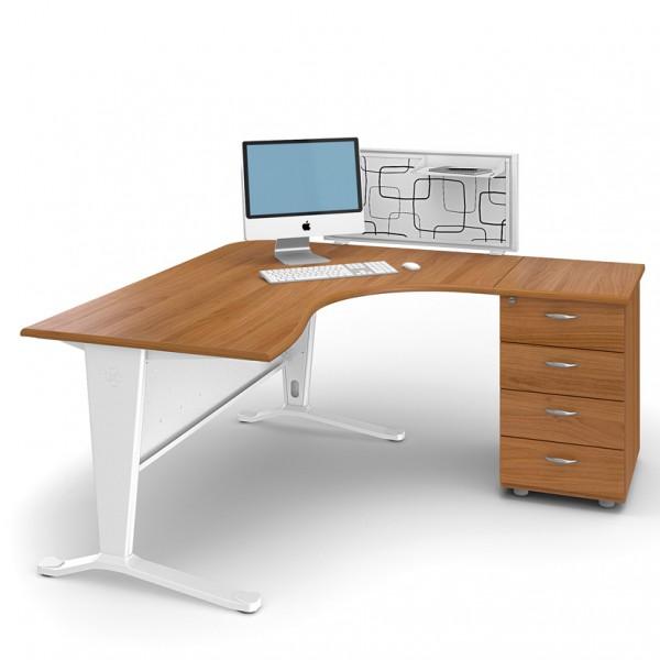 bureau avec retour sur caisson memphis