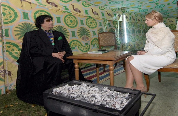 UKRAINE-LIBYA-TYMOSHENKO-KADHAFI