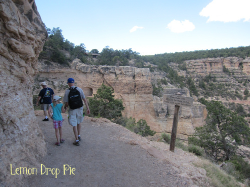 Hiking a short way into the canyon...watch out for mules!