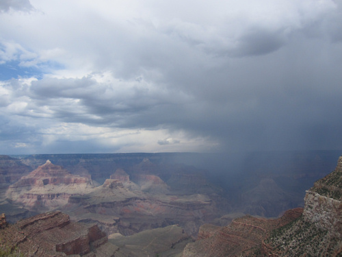 storm in canyon