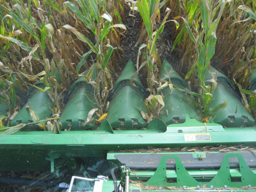 front of combine