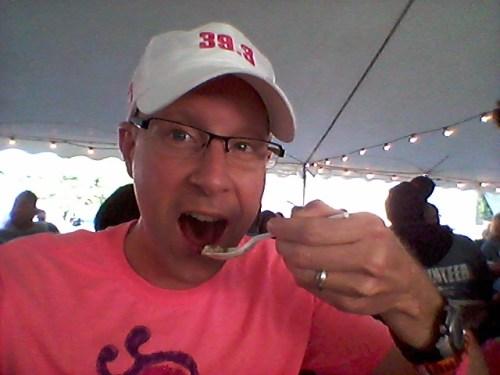 Ed eating oatmeal for breakfast!
