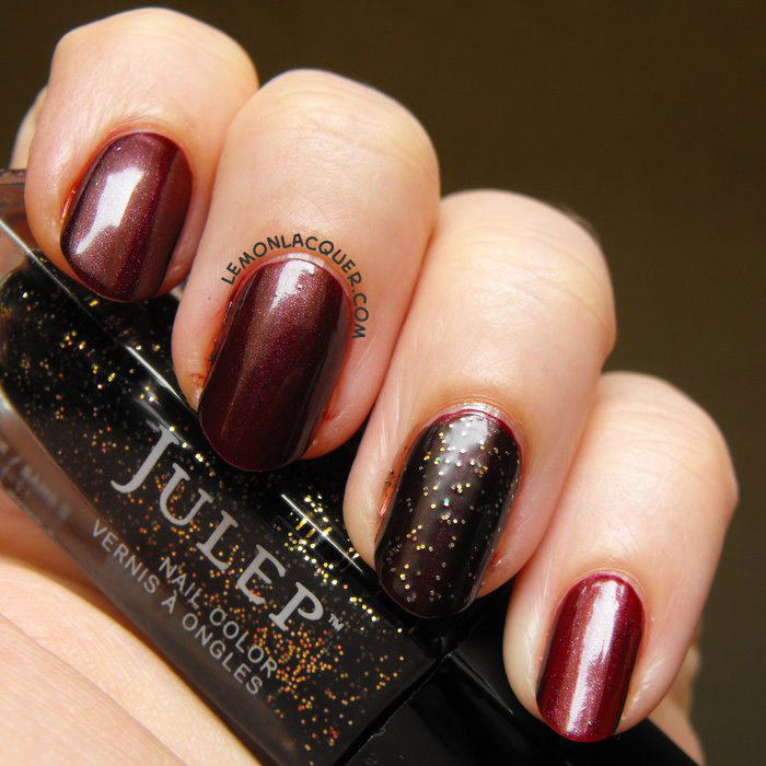 Accent nail of Julep Tia over Marla