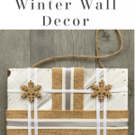 DIY winter wall decor pinterest pin