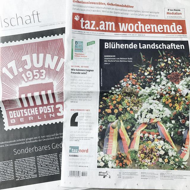 Blühende Landschaften zum Tod von Helmut Kohl