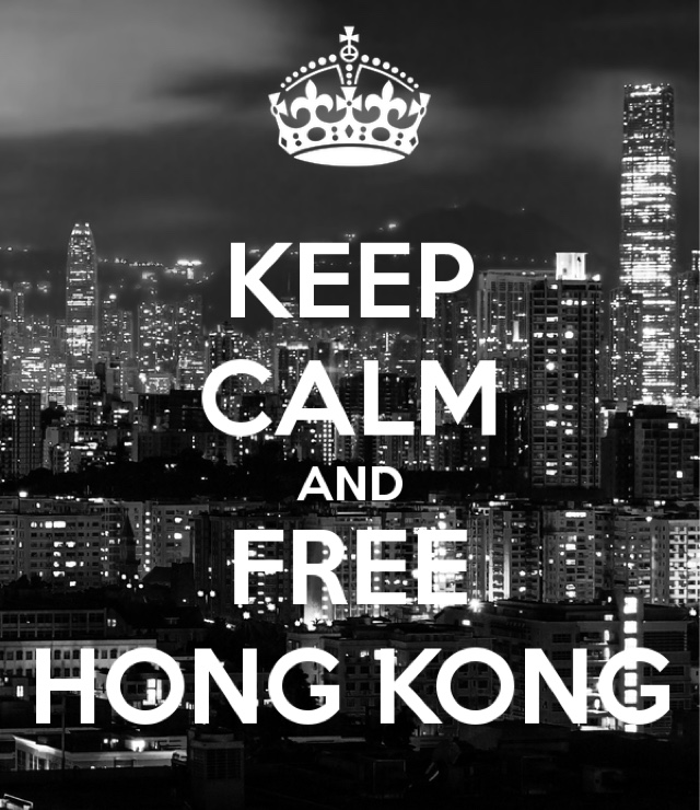 keep calm and free hong kong