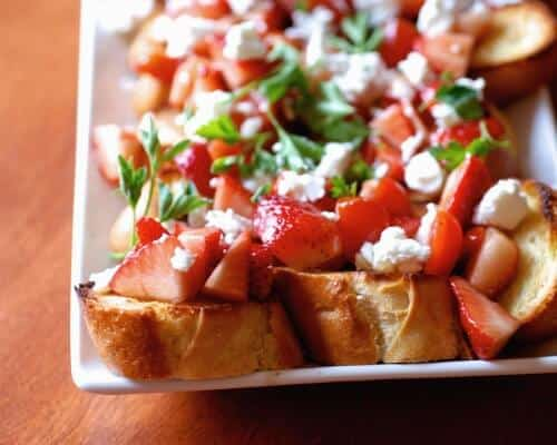 Strawberry Tomato Bruschetta