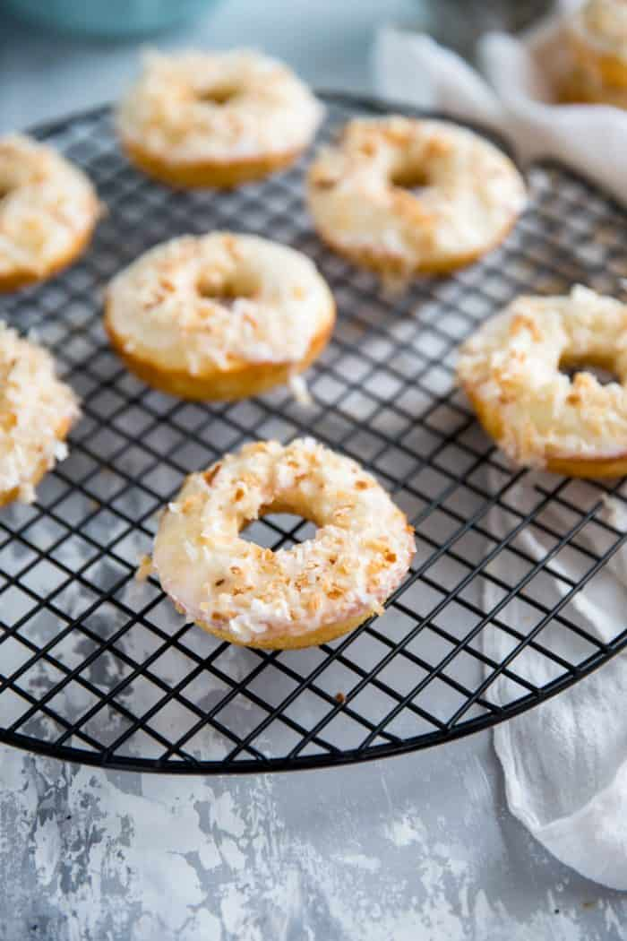 Baked donut recipe with coconut