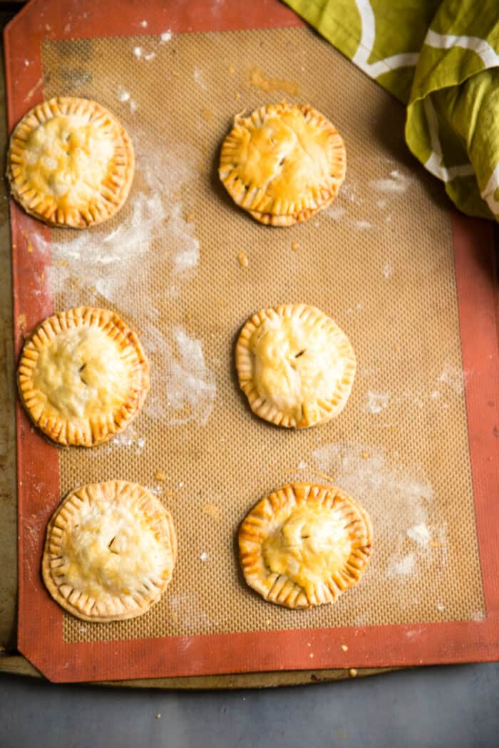 hand pies on a baking sheet