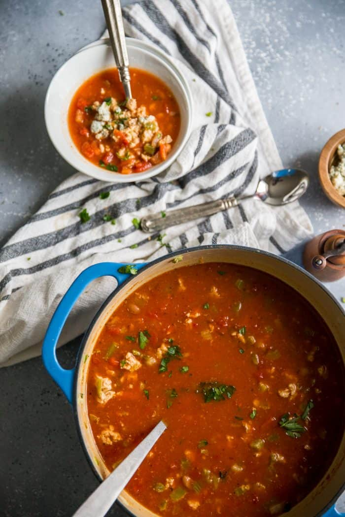 chicken chili pot and bowl