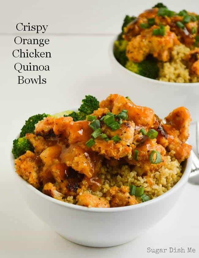 Crispy-Orange-Chicken-Quinoa-Bowls