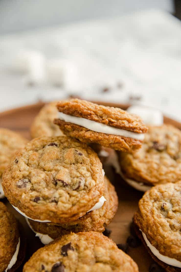 oatmeal cream pies stacked