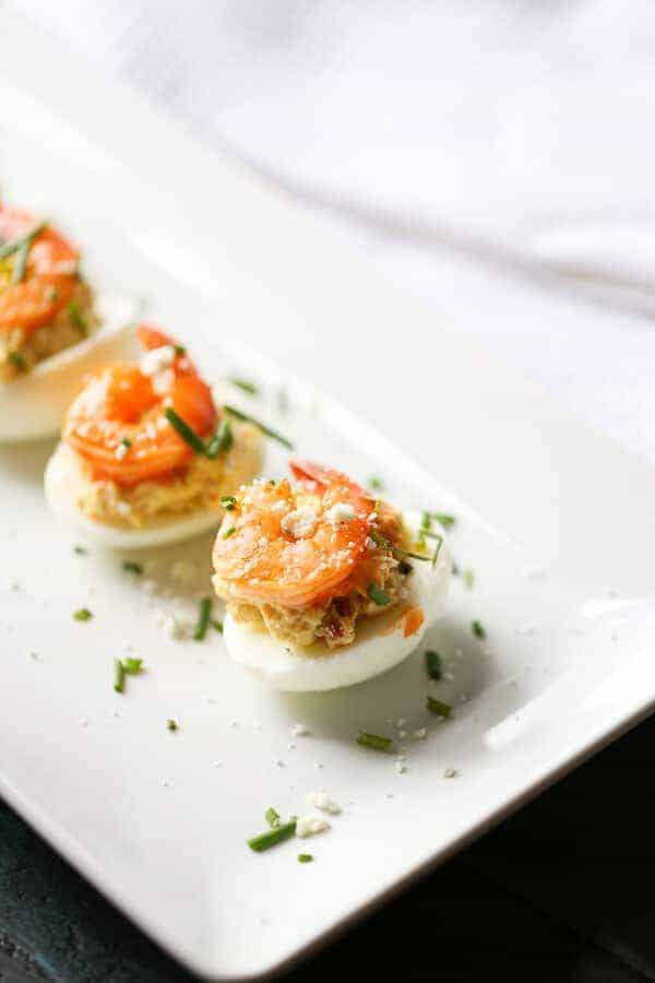 Lemons for Lulu | Buffalo Shrimp Deviled Eggs