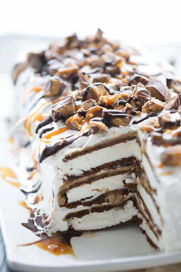 Reese's Ice Cream Cake {Lemons for Lulu}