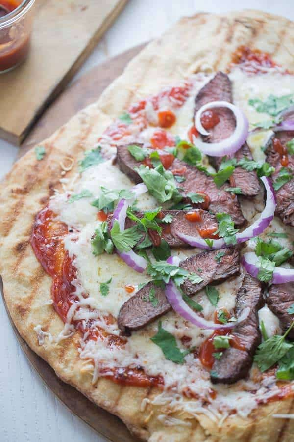 BBQ Steak Pizza {Lemons for Lulu}