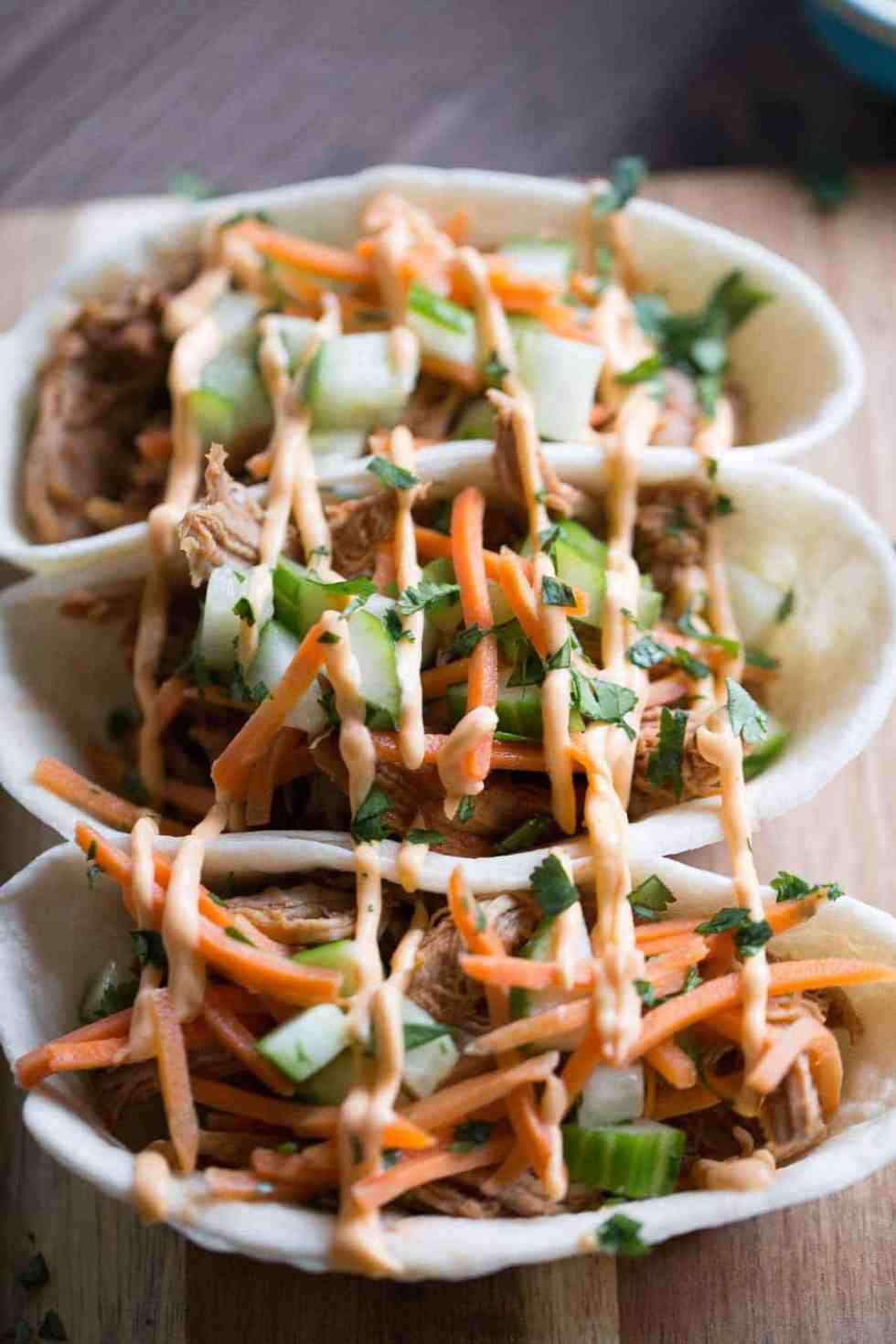 Asian BBQ Pork Taco Bowls {Lemons for Lulu}