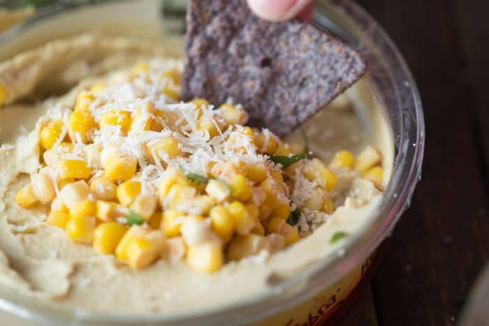 Need a refreshingly simple dip? This Mexican street corn recipe is versatile enough to be a dip or a side!