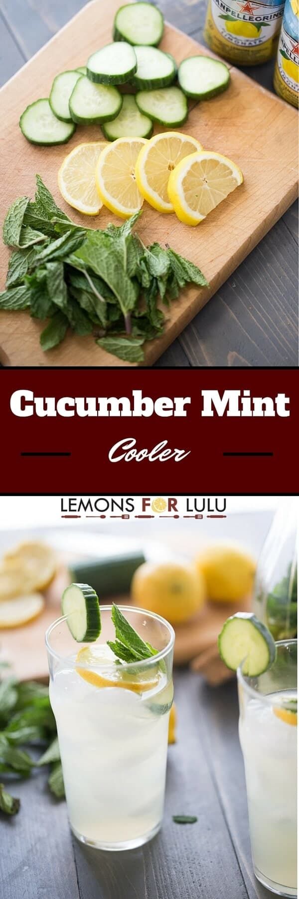 Crisp cucumbers, fresh mint, tangy lemons make this cooler one deliciously refreshing drink!