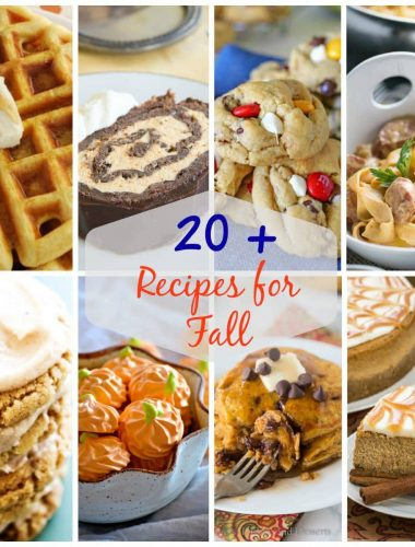 Over 20 of the best recipes for fall!