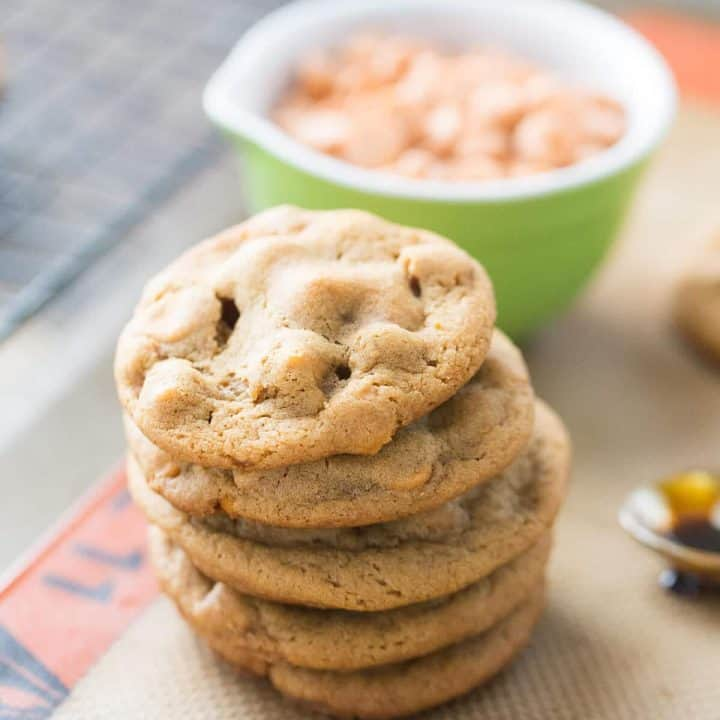 Soft, chewy gingerbread cookies with butterscotch chips that melt into your mouth. These cookies capture the essence of the holidays!