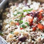 This easy Greek gyro skillet meal is so quick and easy! It makes feeding your family a breeze!