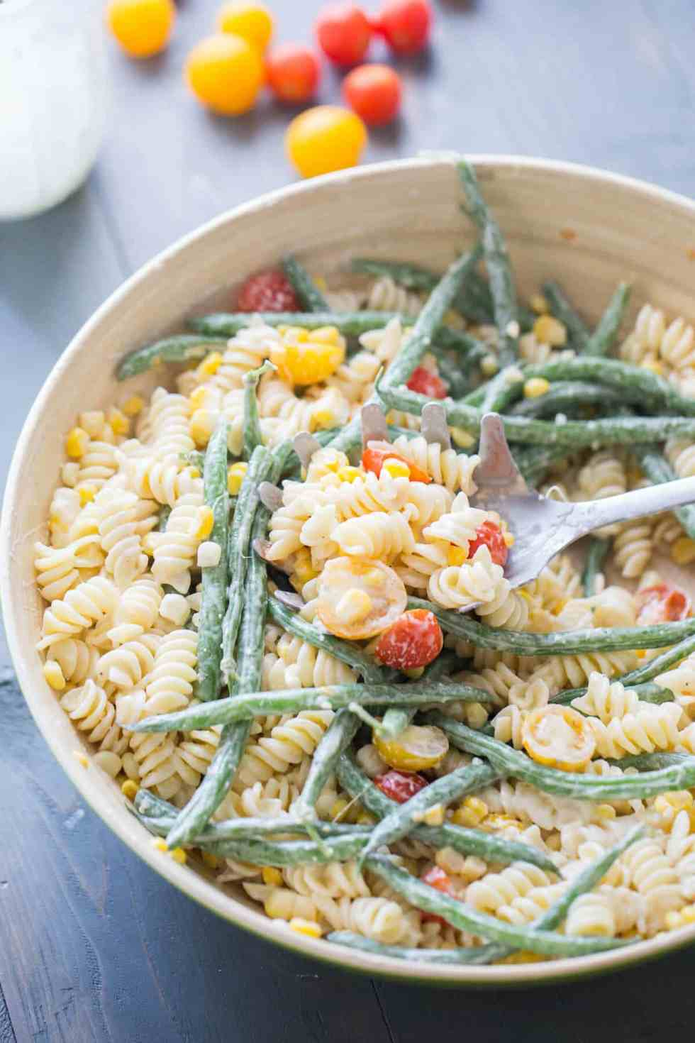 Loaded Vegetable Pasta Salad {Lemons for Lulu}