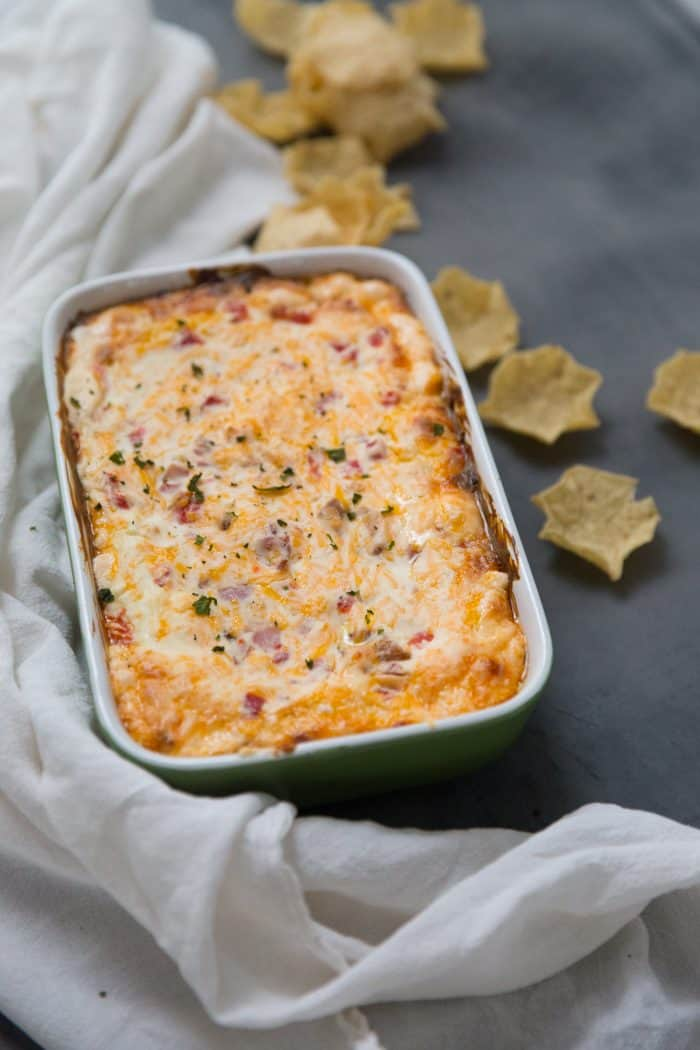 Melted pimento cheese dip