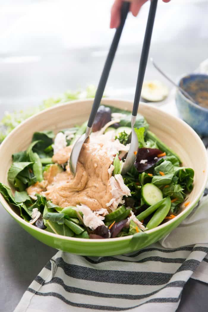 Cashew Chicken salad tossed with dressing