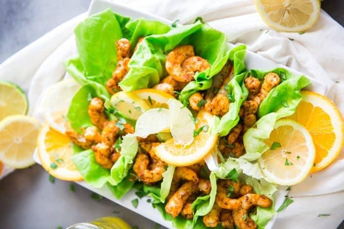 Shrimp tacos with citrus