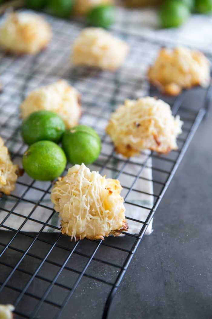 Coconut macaroon cookies single cookie