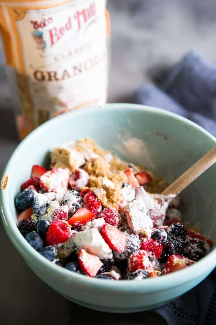 Mixed berry crumble mixing bowl