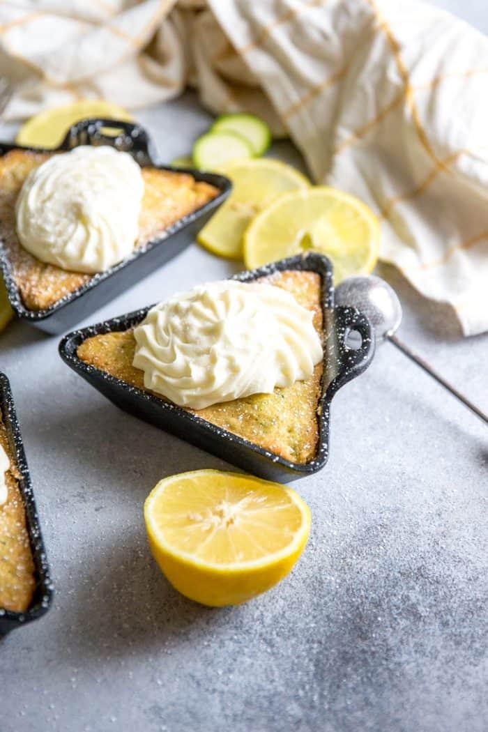 Zucchini cake single