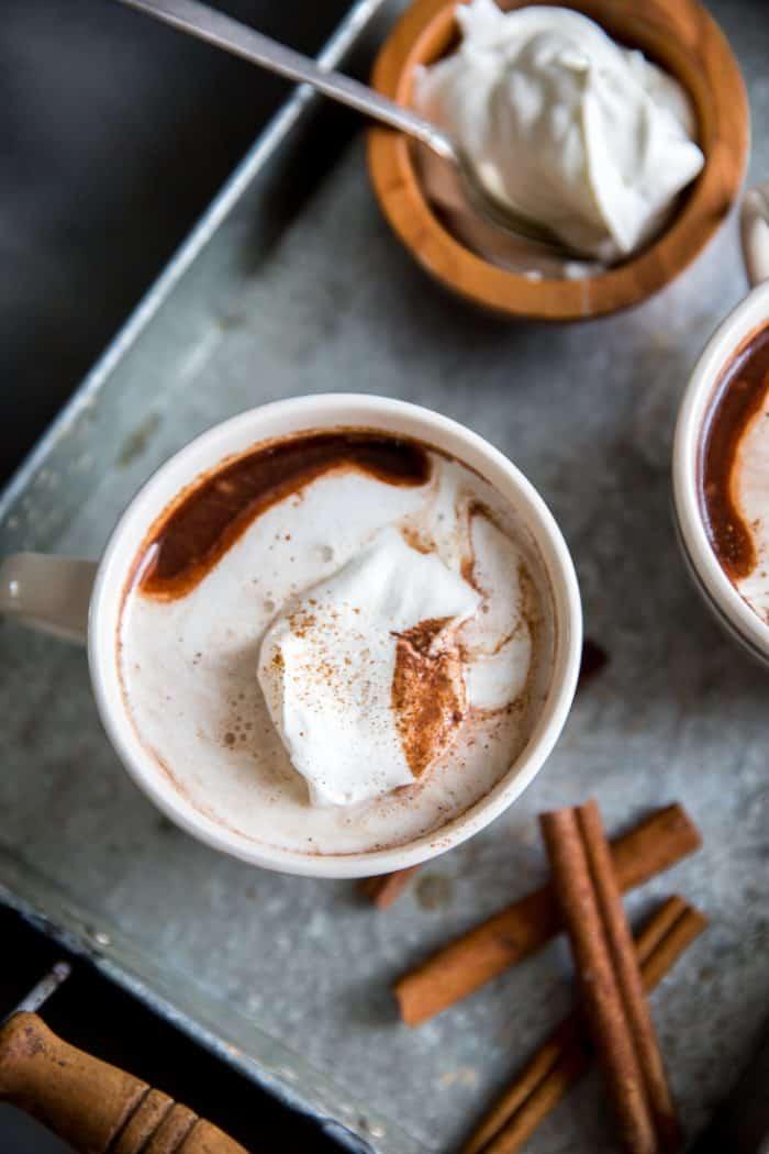 One cup cinnamon hot chocolate
