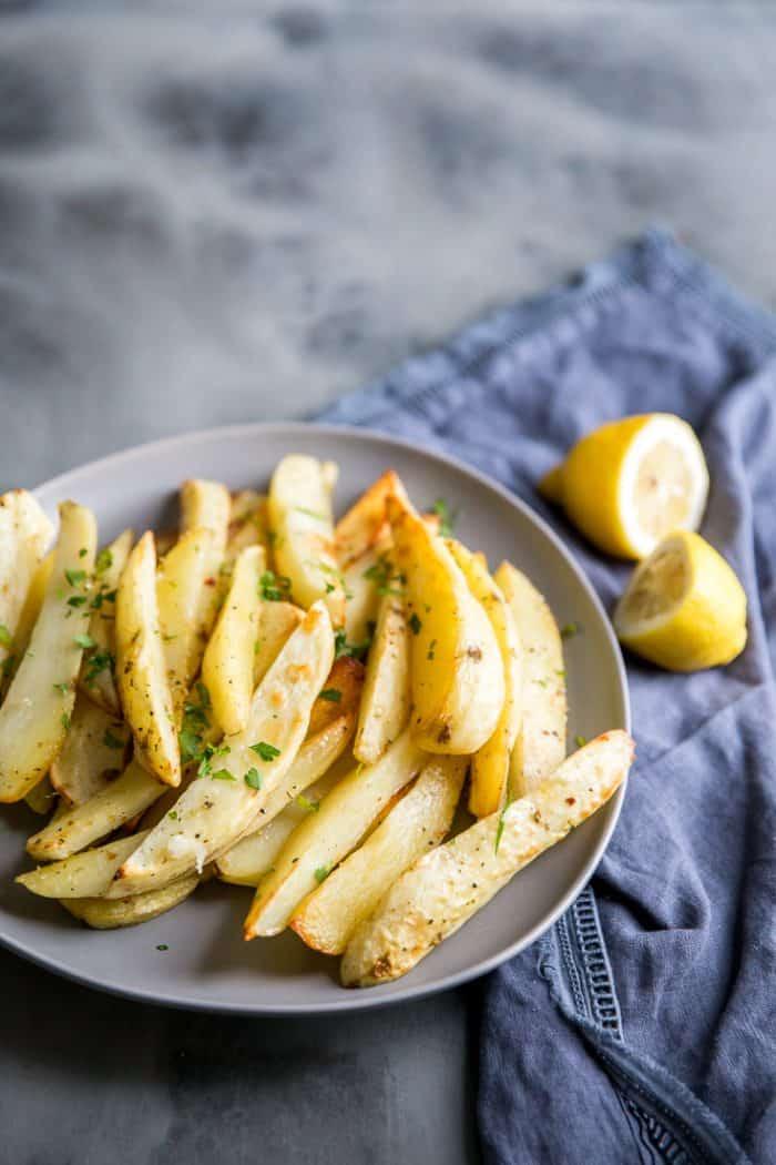 Greek Roasted Potatoes on a plate