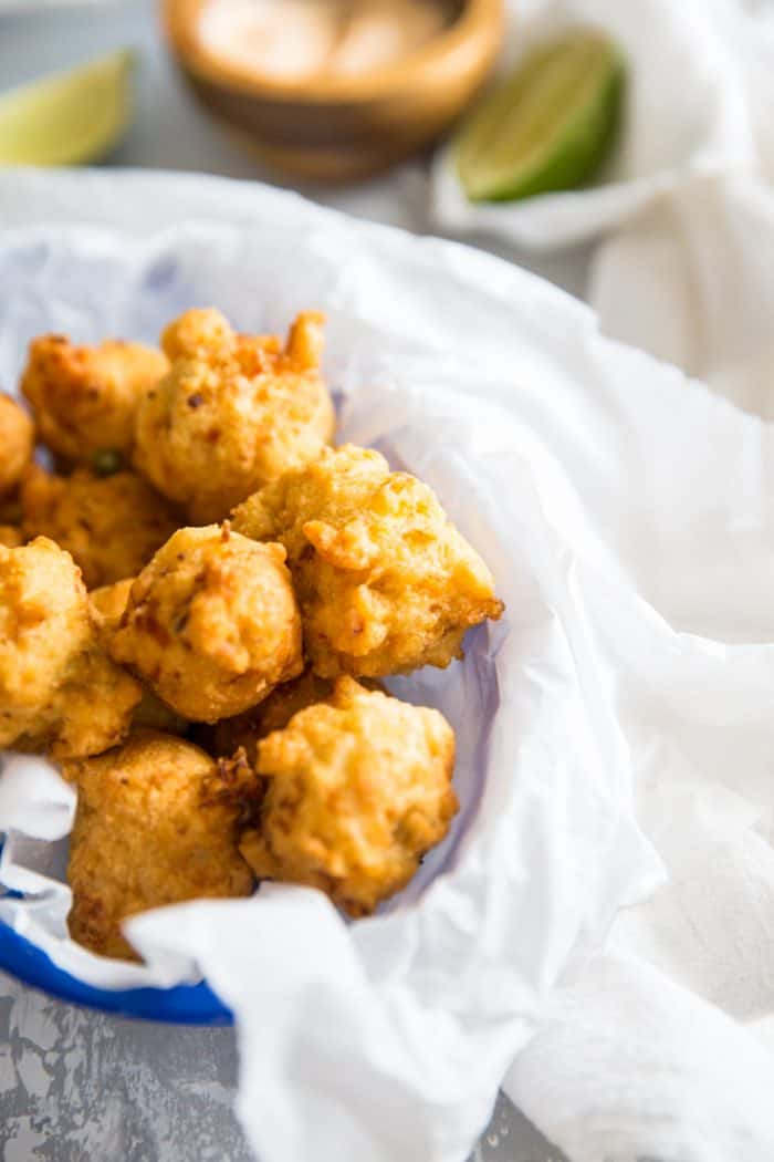 Conch fritter basket