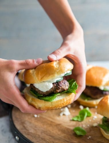 Held lamb burger