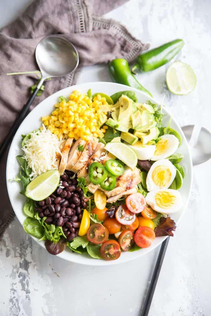 Colorful southwest Cobb Salad