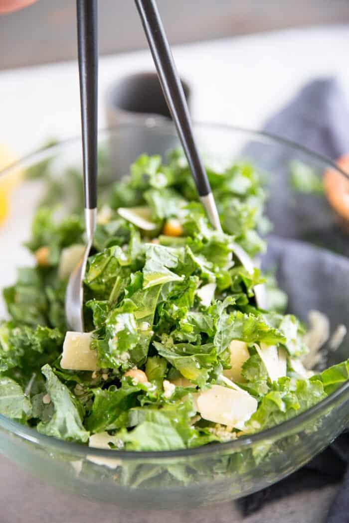 tossed kale salad