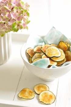 Zucchini Chips - ein gesunder snack