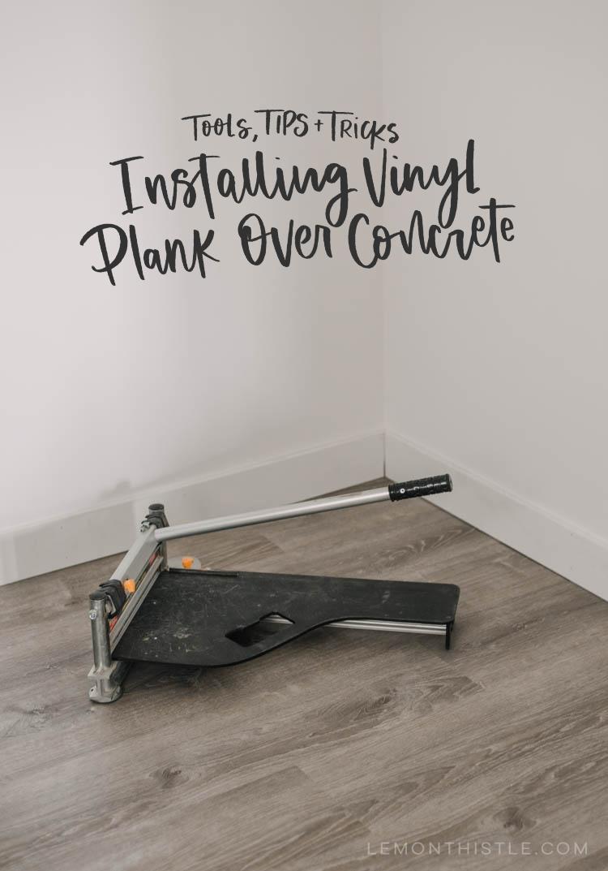 tips for installing vinyl plank over