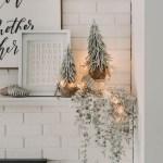Modern Christmas Mantel Ideas Lemon Thistle